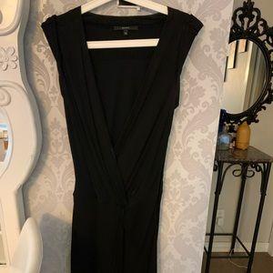 Long black Gucci dress.
